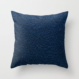 Dark Blue Fleecy Material Texture Throw Pillow