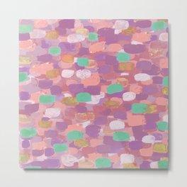 Pink & Copper Confetti Metal Print