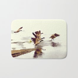 The Take Off - Wild Geese Bath Mat