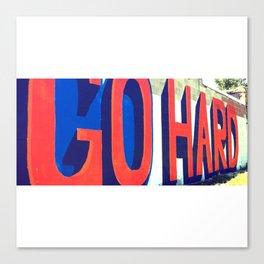 GO HARD | Corktown, Detroit Canvas Print