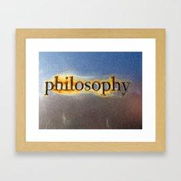Philosophy Framed Art Print