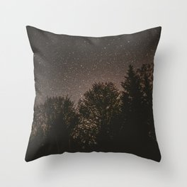 Stars in Forest Throw Pillow