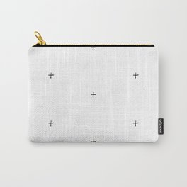 Plus Sign Pattern - Black / White Carry-All Pouch