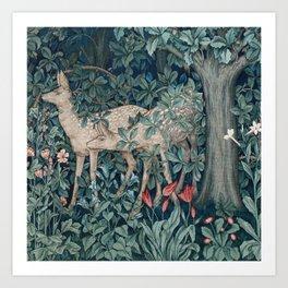 William Morris Forest Deer Art Print