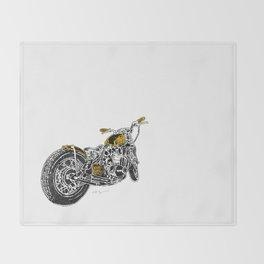 """""""Rootbeer Bobber"""" Custom Motorcycle Throw Blanket"""