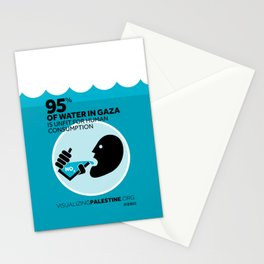 Gaza Water: Confined & Contaminated Stationery Cards