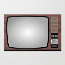 Retro Vintage Old Television Grandcolor 777 Jugoslavija 1970s 1980s Neven Zubak Canvas Print