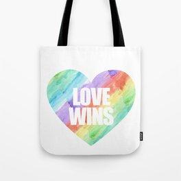 Love Wins Gay Lesbian Rainbow CSD Gift Tote Bag