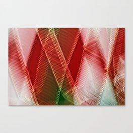 Abstract Holiday Plaid Canvas Print