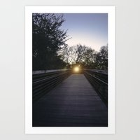the middle Art Print