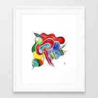 medusa Framed Art Prints featuring Medusa by Gosia&Helena