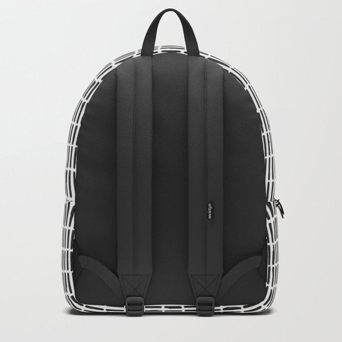 Black & White Hand Drawn Stick Pattern Backpack