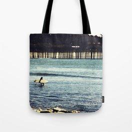 Longboard Pier Tote Bag