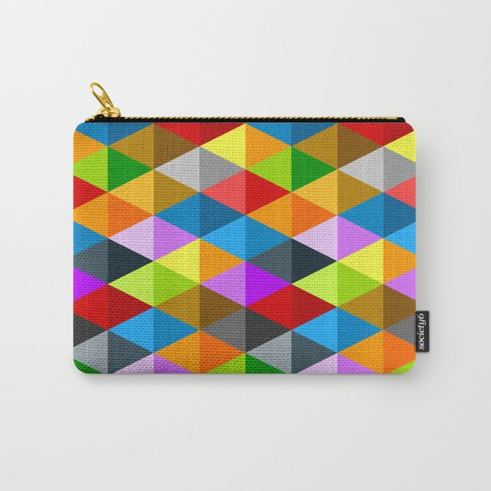 Modern bright funky colorful triangles pattern Carry-All Pouch