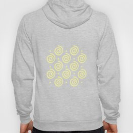 Happy Swirls Pattern on Yellow. Hoody