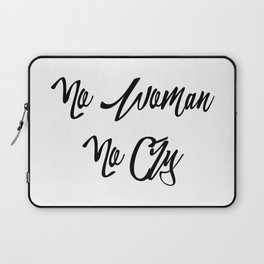 """""""No woman no cry"""" pattern Laptop Sleeve"""