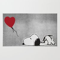 snoopy Area & Throw Rugs featuring Love is all I got by butterflyandbear