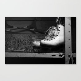 Vintge Skates-B&W Canvas Print