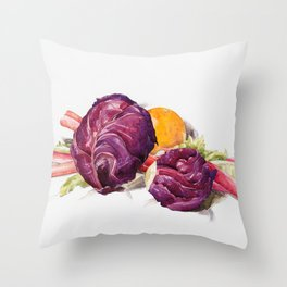 12,000pixel-500dpi - Charles Demuth - Red Cabbages, Rhubarb and Orange - Digital Remastered Edition Throw Pillow