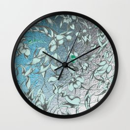 'The green world is man's sacred centre. Wall Clock