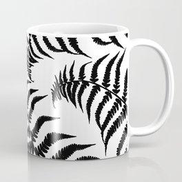 Fern Leaves Pattern - Black Dream #1 #ornamental #decor #art #society6 Coffee Mug