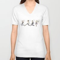 1d V-neck T-shirts featuring 1D on the Run by Aki-anyway