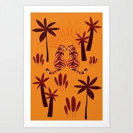 Tiger Love - Summer Sunset Art Print