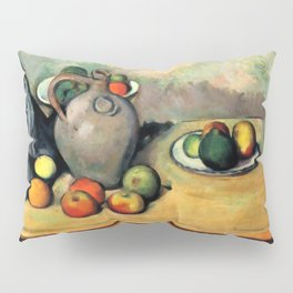 """Paul Cezanne """"Still life, jug and fruit on a table"""" Pillow Sham"""