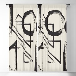 abstract drawing Blackout Curtain