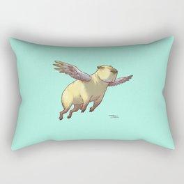 Flying Capybara Rectangular Pillow