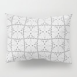 Bow Tie Pattern - White and Gray Pillow Sham