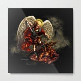 Saint Michael Archangel against the Devil Metal Print
