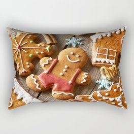 Gingerbread Cookies Rectangular Pillow