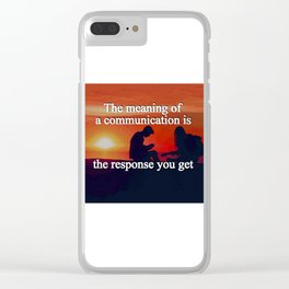 Meaning of a Communication Clear iPhone Case