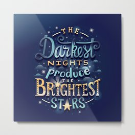 Brightest Stars Metal Print