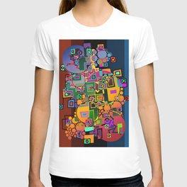 Cubism Modern Art - Dancing In The City 1 T-shirt