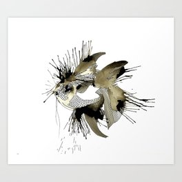 Spoted eye Fish Art Print