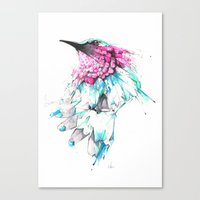 hummingbird Canvas Prints featuring Hummingbird by Alexis Marcou