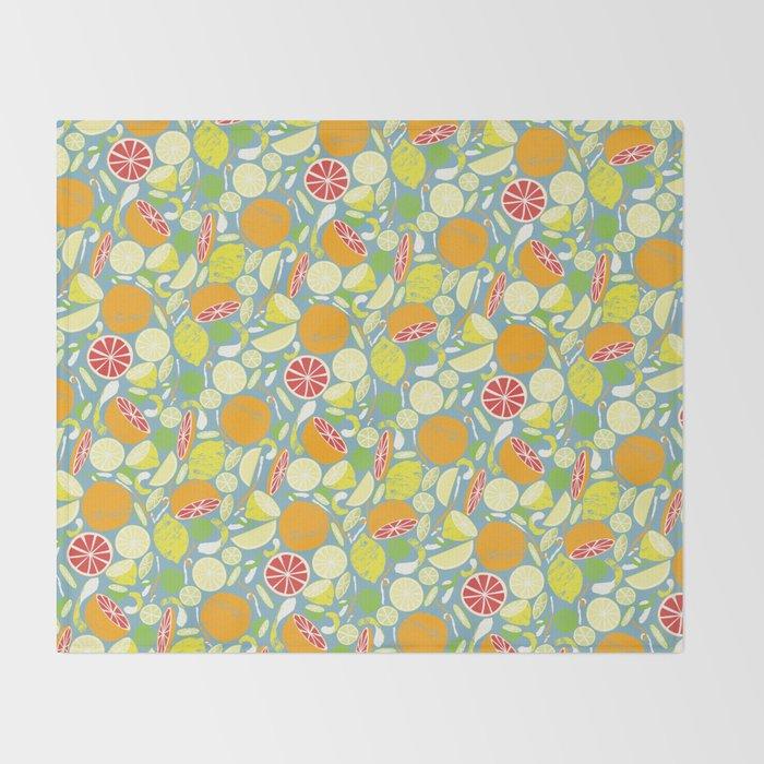 Citrus Zing Throw Blanket