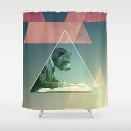 Bear script Shower Curtain