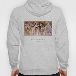 "Alfons Mucha, "" Four Seasons (1895)"" Hoody"