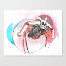 attack of the bunny bot Canvas Print