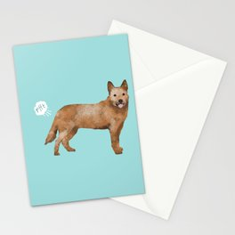 Australian Cattle Dog red heeler funny fart dog breed gifts Stationery Cards