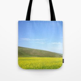 yellow flower field Tote Bag