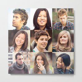 multiple people face  frame - multiracial Metal Print