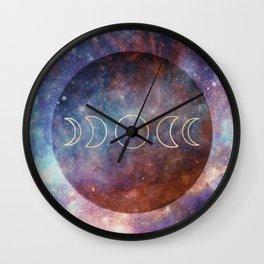 Moon Phases Rose Gold Mandala Wall Clock