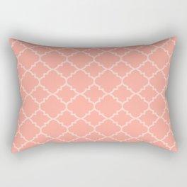 Light Rose Moroccan Quatrefoil Rectangular Pillow