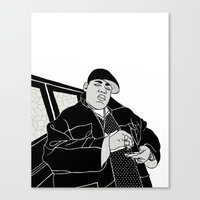 notorious Canvas Prints featuring Notorious by madebytraceyleigh