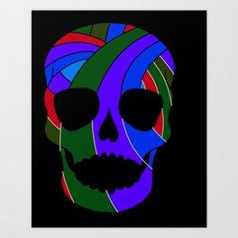 Rainbow Skull Icon Art Print
