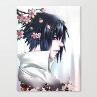 sasuke Canvas Prints featuring Sasuke Uchiha by Clockworkjoker92